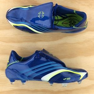 Adidas +F50 FG Blue Limited Edition Soccer Cleats